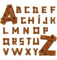 Wooden alphabet vector image vector image