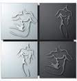 Man torso vector image