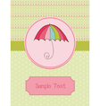 autumn umbrella card vector image vector image