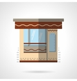 Stall flat color icon vector image