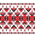 Set of Ethnic ornament pattern in red and black vector image