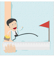 Business man step to the target vector image