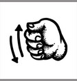 hand clenched into a fist vector image