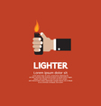 Hand Holding A Lighter vector image