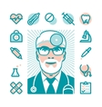 medical doctor icons vector image