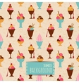 Seamless background with different ice cream vector image