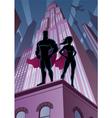 Superhero Couple 5 vector image