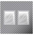 transparent blank template packaging foil food vector image