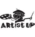 artist up vector image