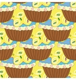 Seamless pattern with pastries and cakes vector image