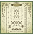 Set of decorative elements for design vintage vector image vector image