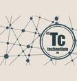 technecium chemical element vector image