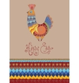 Easter card folk decorated bright chick typography vector image