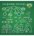 infographic elements library vector image