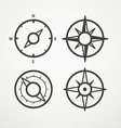 Wind rose and compass retro design collection vector image vector image
