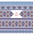 Set of Ethnic ornament pattern in different colors vector image