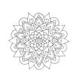 Mandala ornament hand made sketch for your design vector image