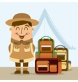 camping design vector image
