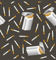 cigarette seamless pattern vector image