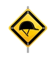 Construction road sign vector image