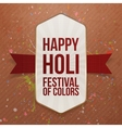 Holi Color Festival realistic Banner with Ribbon vector image