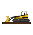 isolated wheel loader design vector image