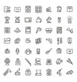 outline icon collection - household appliances vector image