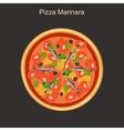 Pizza marinara with anchovies vector image