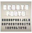 Set of creative alphabets vector image