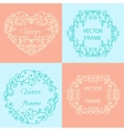 Set typographic ornamental objects vector image