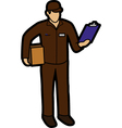 Courier man vector image vector image