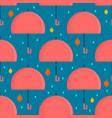 autumn umbrella seamless pattern vector image