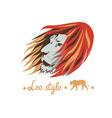 lion head design vector image