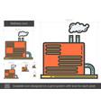 refinery line icon vector image vector image