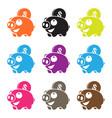 Pig piggy bank vector image