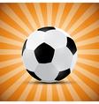 Football Ball on Orange Retro Background vector image vector image