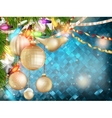 Blue Christmas background EPS 10 vector image vector image
