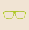 Green glasses on beige background vector image vector image