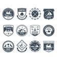 Mountain Adventure Emblems Black vector image