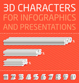 3D Numbers for infographics vector image