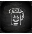 Hand Drawn Telephone vector image