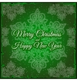 Snowflake and sample text on a green background vector image