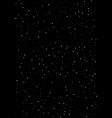 clusters of star in the dark sky black vector image