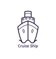 cruise ship on a white background vector image