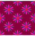 Geometric seamless pattern with flower in pink and vector image