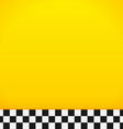 Taxi Checkerboard Pattern vector image