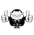 Thumbs up Retro vector image