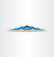 summer water waves design symbol vector image