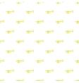 Brass trumpet pattern cartoon style vector image