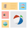 flat hot set of wiper ocean surfing and other vector image